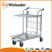 YLD-FT918-1S Tally Cart For Warehouse Hand Pull Trolley