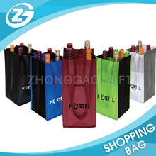 for Promotion Wholesale Customized Size Strong Non Woven Multiple Wine Bottle Carrier