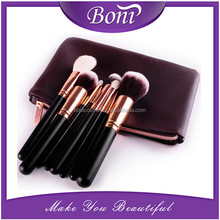 Professional creative beauty needs 8pcs rose gold aluminium ferrule makeup brush set