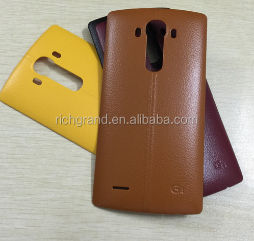 New Real Leather Back Rear Battery Cover Door Case With NFC for LG G4
