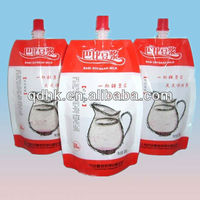 drink packaging plastic spout bag for milk