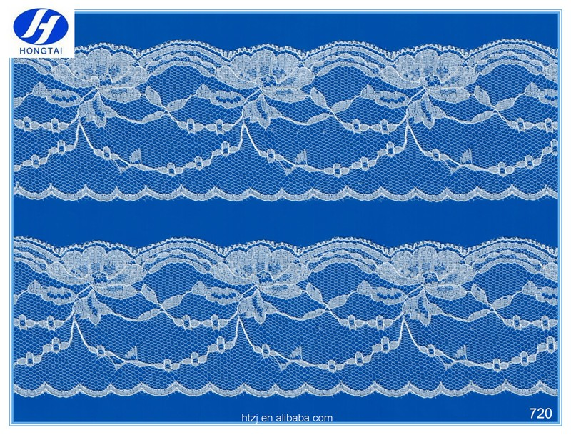 6cm wide design wholesale good price lace trim/ white double side scallope lace trims