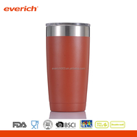 20oz Double Wall Stainless Steel Beer Mug With Transparent Tritan Lid