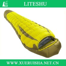 yellow waterproof cover thermal sleeping bag down fill