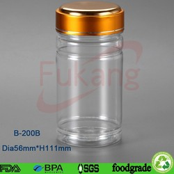 200cc wide neck pharmaceutical & nutritional supplement bottle,capsule container