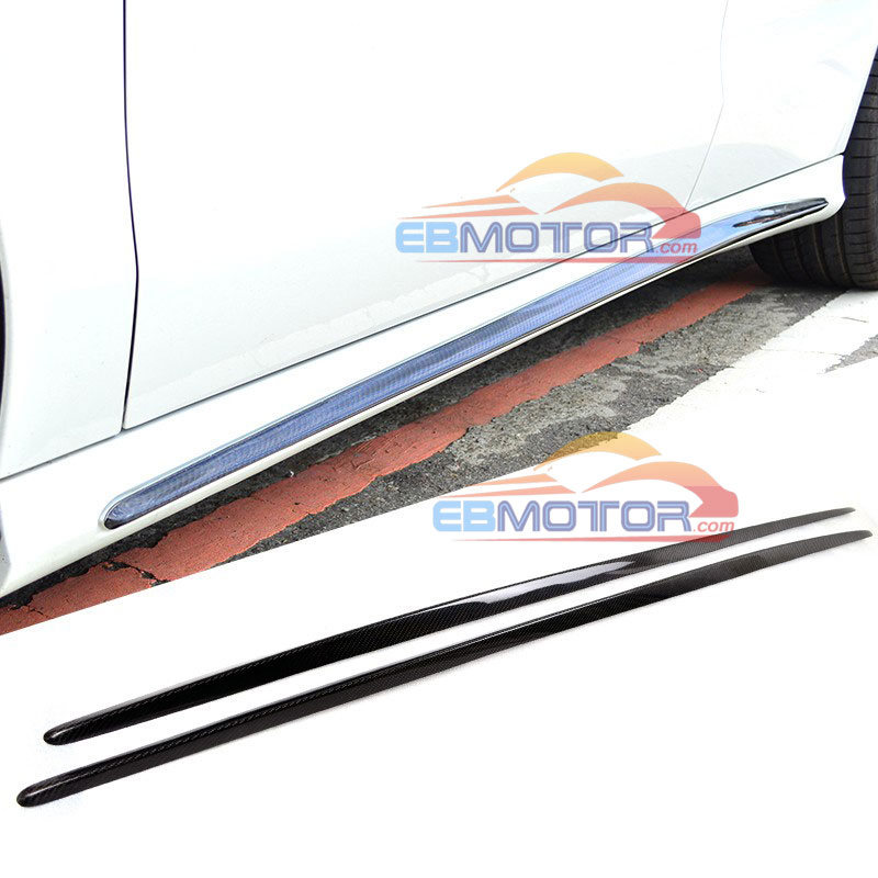 REAL CARBON FIBER SIDE SKIRTS TRIMS FOR MERCEDES BENZ <strong>W117</strong> CLA AMG Sport 14-16 M153
