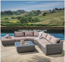 2017 Trade Assurance Luxury Large piece rattan outdoor regal living sofa sets furniture