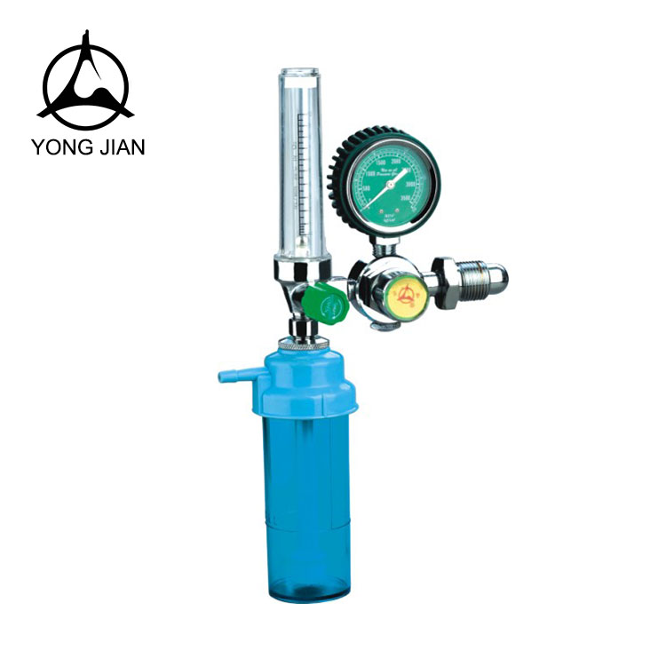 medical oxygen regulator with flowmeter