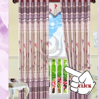 russian style printed cloth imported blackout eyelet curtains