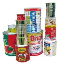 Food grade empty easy open lid tin can,round metal can for coffee beans/edible oil/fish