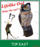 Wholesale solar power Solar light owl,eyes bright in the night For Pest Control