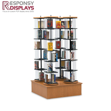 Foor Wood Book Display Stand Magazine Shelf