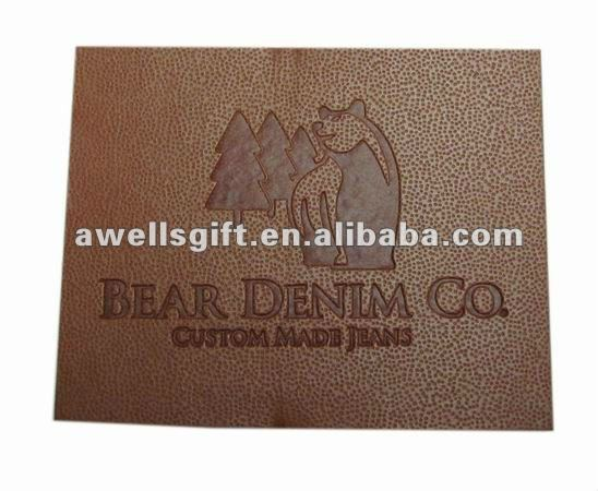 fashion jeans leather patch labels