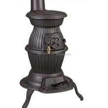 Outdoor cast iron pot belly wood cook fireplace stoves