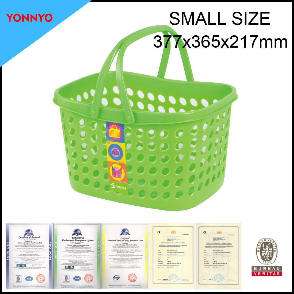 small size colored laundry plastic baskets with handle