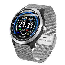 Luxury N58 ECG <strong>Smart</strong> <strong>Watch</strong> Heart Rate Monitor Fitness IP67 Waterproof Sports Stainless Steel Digital Men Bluetooth Wrist <strong>Watch</strong>