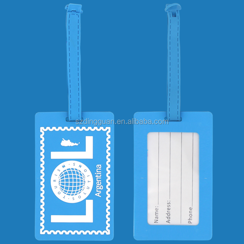Custom high quality low price luggage belt with name tag