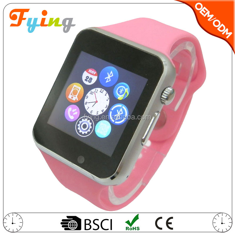 smart watch <strong>a1</strong> cheap with camera Bluetooth smartwatch android silicon wristband