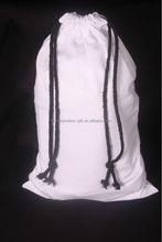 new products style gift white cotton drawstring bag, white drawstring bag for jewelry, white drawstring bag
