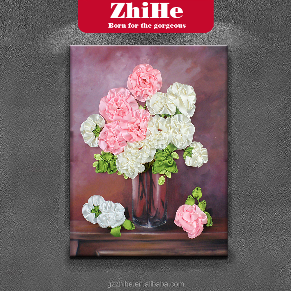 The decoration painting Pink and white flower painting