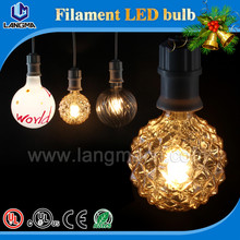 Various color design milky/frosted housing 4w e27 dimmable led bulb hot sale carbon filament lamp