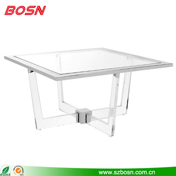 Customized durable new product clear acrylic table