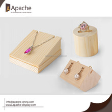 wooden jewelry display/earring ring necklace display base