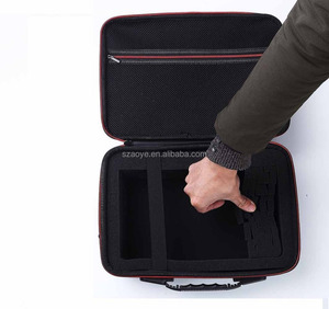 Hard Travel Case for DBPOWER T20 1500 Lumens LCD Mini Projector Multimedia Home Theater Video Projector EVA Carrying Bag (Black