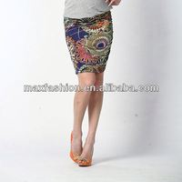 Hip pack floral chiffon formal skirt wear women photos of wholesale fitness clothing by China supplier