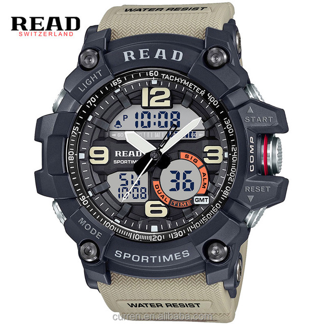 READ 90001 Brand 2017 Top Sports New Cheap Electronic Wrist Watches for Men Masculino Alarm Clocks Silicone Digital Watch