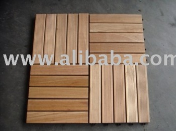Bangkirai Wood Tiles
