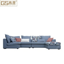 tapestry fabric wooden frame 7 seater sofa set designs