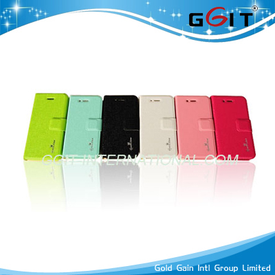 Genuine Wallet Leather Case for iPhone 4S Rotating Cover with Card Room