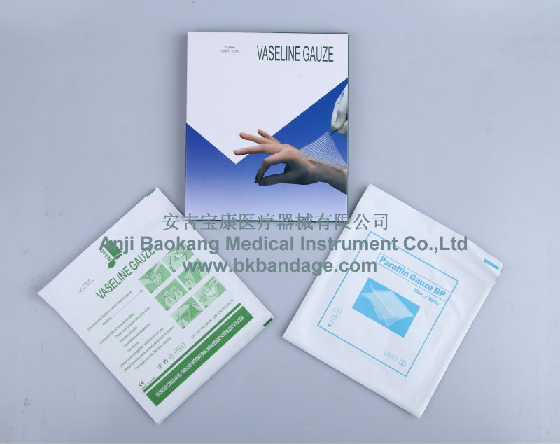 medical consumables paraffin gauze dressing swab(roll)