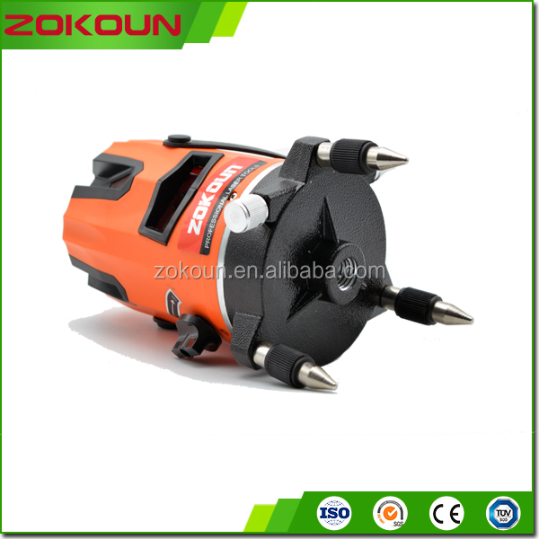 Auto leveling 2 line li-ion battery red rotary laser level