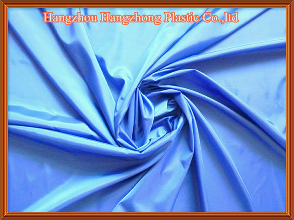 Raincoat used 190t polyester pu coated fabric
