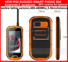 For police and security IP68 NFC reader quad core android 4.2 GSM walkie talkie GPS