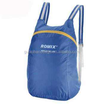 Hot sale promotional fashion travel foldable Ripstop sports backpack