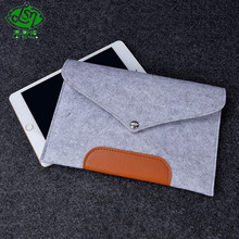 Hot sale best quality dyed wool felt carrying sleeve laptop bag