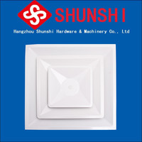 Steel adjustable high performance square air diffuser