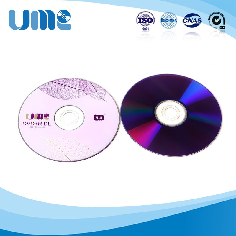 8.5gb wholesale dvd+r dl for blank media high recording speed