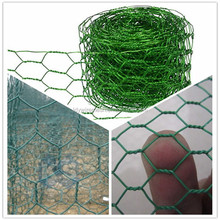 Plastic powder coated Chicken Wire Mesh, Green Pvc Coated Wire netting, Coop wire mesh fencing