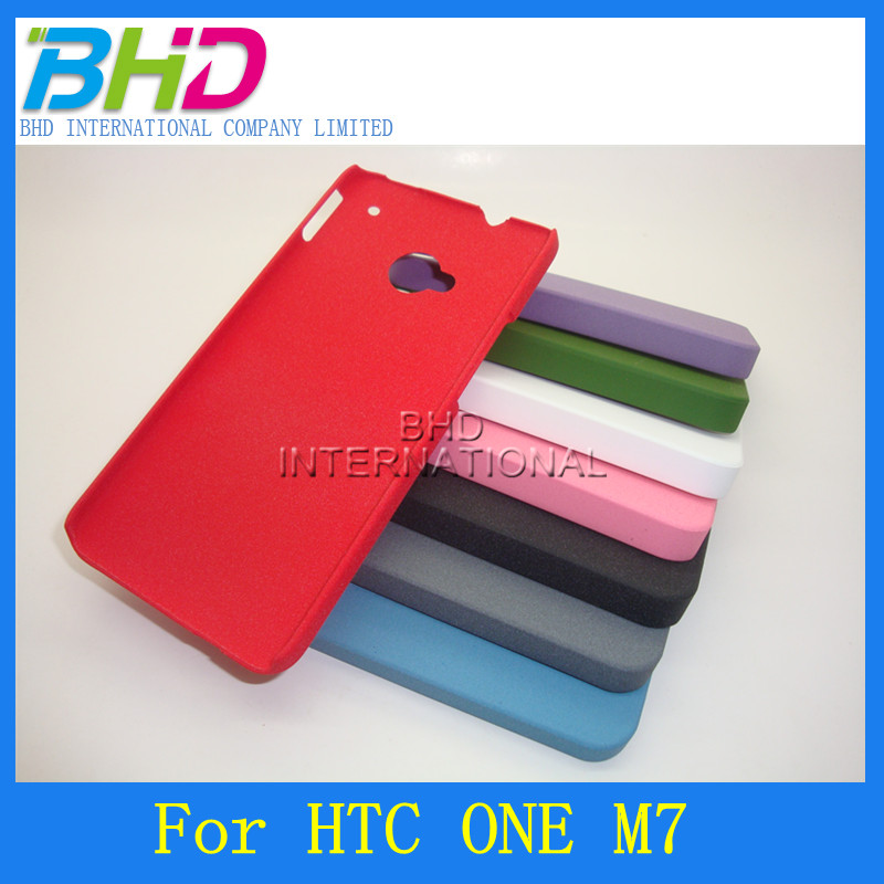 Hard shell PC tough cell phone cases for HTC ONE M7