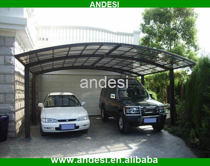 Lowe S Two Car Garages : Aluminum two car garage size with polycarbonate roof buy