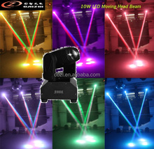 10W Mini Led Moving Head Pinspot Light use with Glass Mirror Disco Ball for Disco KTV Room Showroom Home Party Small Stage Enter