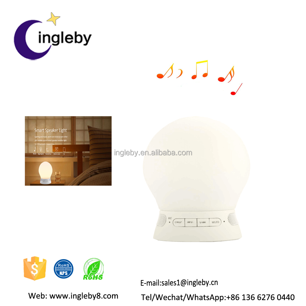 Novel color changing 2017 popular bluetooth music wifi led light silicone bulb covers