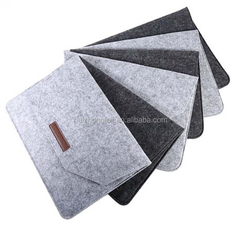 11'' 12''13'' 14'' 15'' inch fashion grey felt laptop protective sleeve case carrying bag for notebook and laptop