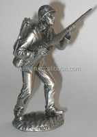 pewter military soldier figures,tin alloy fighter figurines,metal soldier