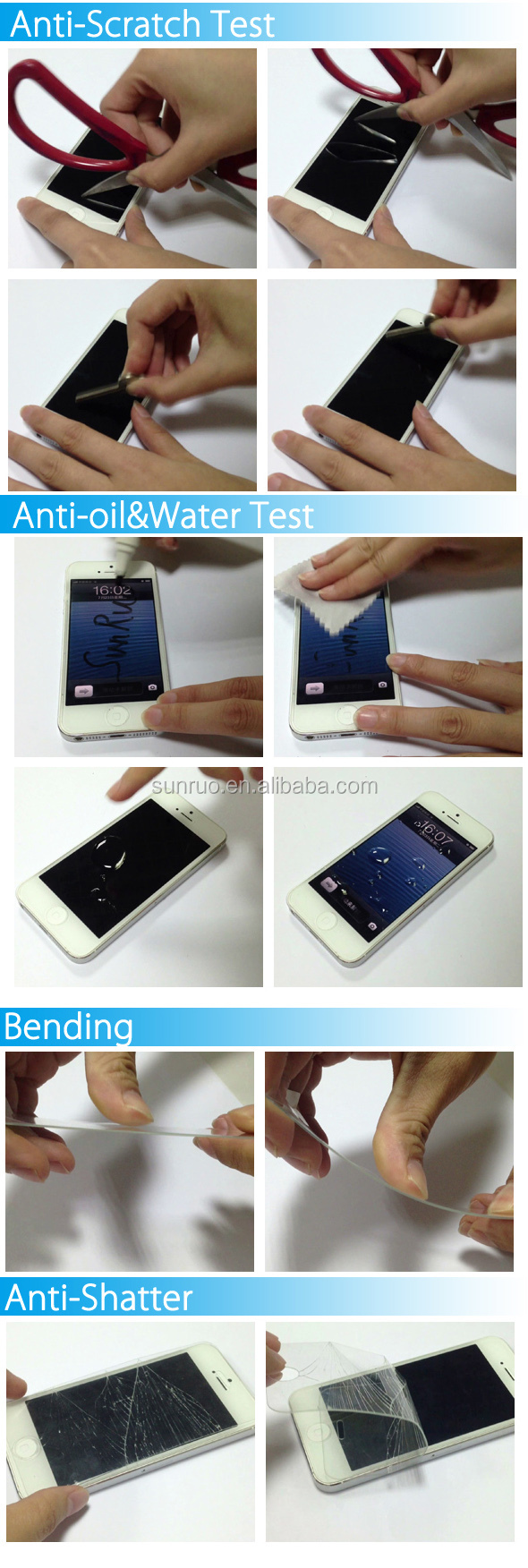 New anti radiation tempered glass screen protector for iPhone 6/7/8
