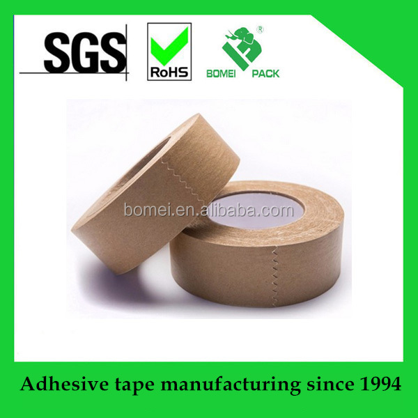 Hot Sale self adhesive carton sealing kraft paper tape made in China